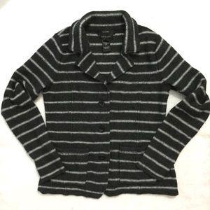 Tahari striped wool sweater jacket Medium / Small